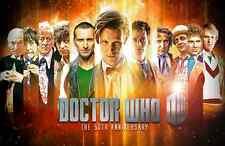"Dr Doctor Who Imported 17"" X 11"" Poster Print - 11 Doctors 50th Anniversary"