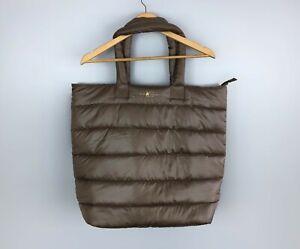 Beautiful LUISA CERANO Designer Puffer Shopper Tote Bag Brown Large