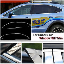 Full Window Frame Molding Sill Trim Cover Stainless Steel For Subaru XV
