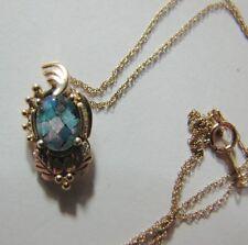 "10K Gold Black Hills Gold Opal Pendant, Mosaic Necklace 18"" Gold Chain,  2.2g"
