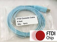 Console Cable FTDI USB to RJ45  Win7 8 Vista MAC Linux cisco juniper 6 feet