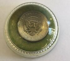 Vintage Lucite US Half Dollar Coin Paperweight