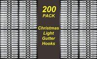 200 Pack Gutter Hooks / Clips for Christmas Fairy Lights