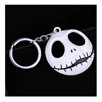 Large Nightmare Before Christmas Jack Skeleton Head Key Ring Key Chain Halloween