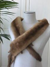 Etole ancienne fourrure véritable Année 60/70 Longueur 140 cm Costume de dame F1