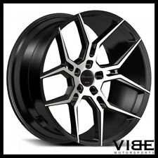 "20"" GIOVANNA HALEB MACHINED BLACK CONCAVE WHEELS RIMS FITS HONDA ACCORD COUPE"