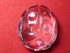 Val St. Lambert de Sousa Crystal Art Glass Lady Bug Paperweight - Ladybug Signed