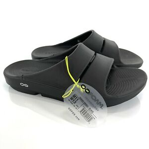 OOFOS OOAHH Sport Sandals M 11 W 13 Unisex Recovery Technology Black Slides