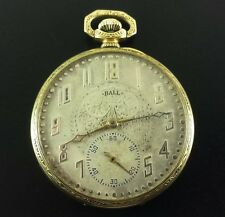 Antique BALL Gold Fill Pocket Watch 19 Jewels 12 Size S/N B400088 Ca.1904
