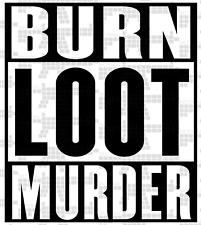 BLM Shirt Burn Loot Murder | Trump 2020