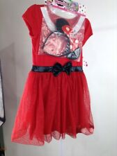 Girls Minnie Mouse Dress with Headband Red Size 5T