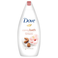 Dove Body Wash Shower Gel Moisturizing Caring Bath Almond Cream With Hibiscus