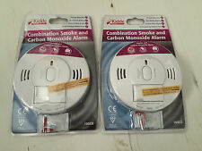 Kidde Combination Smoke and Carbon Monoxide Alarm x2 with Screw Fixings Included
