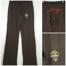Ed Hardy Womens Medium Brown Sweat Pants