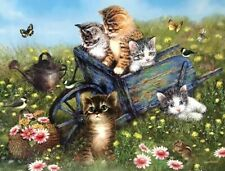 "FIELD TRIP FOR KITTENS - 300 PIECE JIGSAW PUZZLE - 18"" x24"" SUNSOUT  SEALED"