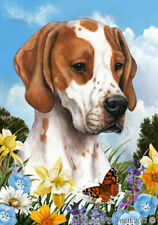 Summer Garden Flag - Red and White English Pointer 184681