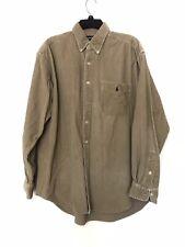 Ralph Lauren Blaire Corduroy Shirt Button Down Cotton Size Large Tan Brown Soft