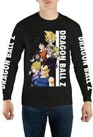 ThinkGeek Dragon Ball Z Group Long Sleeve Men's Shirt Top Large Size Black