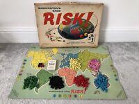 Vintage Waddingtons RISK Strategy War Board Game 1960s