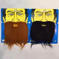 Hot! Fake Facial Hair Farmer Moustache Beard Halloween Costume COS Theater Prop