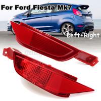 Left + Right Rear Bumper Reflector Fog Light Lens For Ford Fiesta MK7 2008-2012