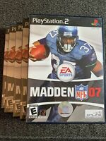 MADDEN NFL 07 - PS2 - COMPLETE W/MANUAL - FREE S/H - (Z)