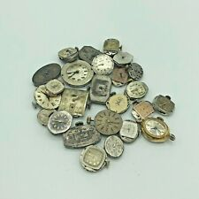 Lot of 25 Antique Vintage Mechanical Watch Movements Steampunk Lot #3