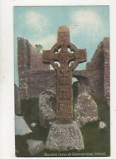 Ancient Cross At Clonmacroise Ireland 1909 Postcard 980a
