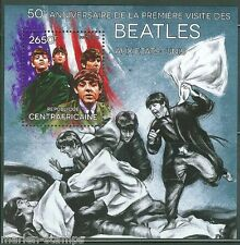 CENTRAL AFRICA 2014 50th ANNIVERSARY BEATLES IN THE UNITED STATES S/S MINT NH