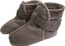 carozoo booties dark brown 6-12m soft sole leather baby shoes