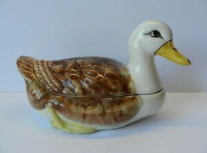 Vintage Ceramic Duck Egg Holder Portuguese
