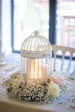 45cm High White Birdcage Centrepiece FOR EVENT DECOR HIRE ONLY!