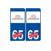 Ski france alpes Chamonix autocollant plaque sticker département au choix -  Ang
