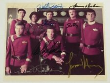 Star Trek 1960s Sci-Fi Tv Series Rare Signed Cast Photo 8 Autograph Signatures