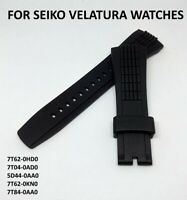 26mm Silicone Montre Bracelet Band Strap For Seiko Velatura Watch Replaceable