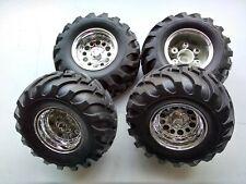 Tamiya Bruiser/ HG P407 1/10 Tires & Wheels SET (4)