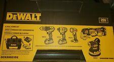 DeWalt 5-Tool 20V Max Brushless Power Tool Combo Kit +2 Batteries,Case & Charger
