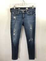 AG Adriano Goldschmied The Legging Ankle Super Skinny Ankle SZ 26 Distressed