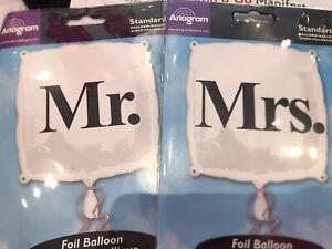 """Mr Mrs Wedding Day Foil Balloons - 18"""" Anagram"""