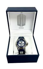 DOCTOR WHO BBC TARDIS COLLECTORS WATCH SILVER AND BLUE