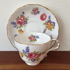 Fine Bone China Tea Cup Made In England Gold Trim Melba Vintage