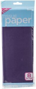 """Tissue Paper 20""""x26"""" 8/Pkg gift wrapping, paper crafts-Violet"""