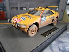 PEUGEOT 405 GT T16 Paris Dakar Winner Raid 1990 dirty Vatanen Top Marques 1:18