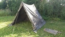 British Army 9x7 Ridge Canvas Pup Tent Military Command Post Expedition Festival