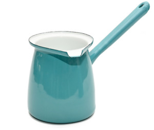 Coffee Culture Turkish Coffee Pot Enamel Orange Blue Mint Turquoise Pistachio