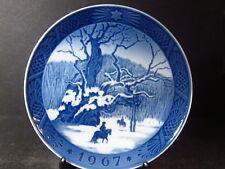 Royal Copenhagen 1967 Royal Oak Horseback In Snow Annual Plate