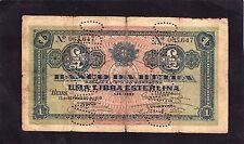 Mozambique,Banco da Beira 1 Libra  P-R6  1919  Good