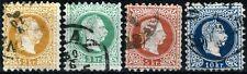 EMPIRE AUTRICHIEN  1867  timbres YT N° 32 à 35 Oblitérés