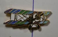 Doppeldecker - Flugzeug - PIN Badge ca. 3 x 2 cm  (AN3043)