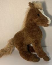 "Douglas Cuddle Toys 16"" Plush Horse Pony Stuffed Animal Brown Vintage 1986 Soft"